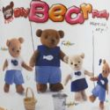 Felt fabric Model Kit - Bear, 16.5cm x 10cm, 4 Bear, (SGD0046)